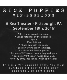 VIP Session - Rex Theater, Pittsburgh, PA - 9/18/16