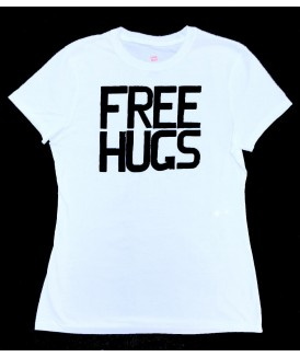 Free Hugs Women's White Tee