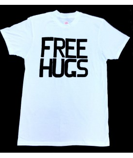 Free Hugs Men's White Tee