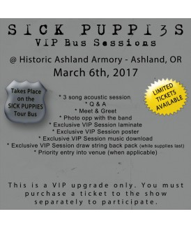 VIP Session Ticket 03-6-17, Ashland, OR